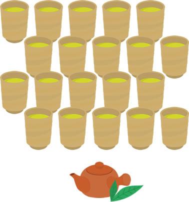 お茶にはテアニンが含まれています