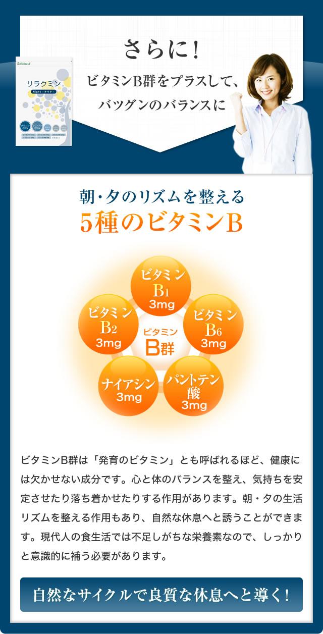 5種のビタミンB