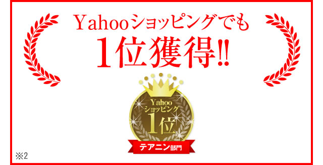 Yahoo!ショッピングランキング1位